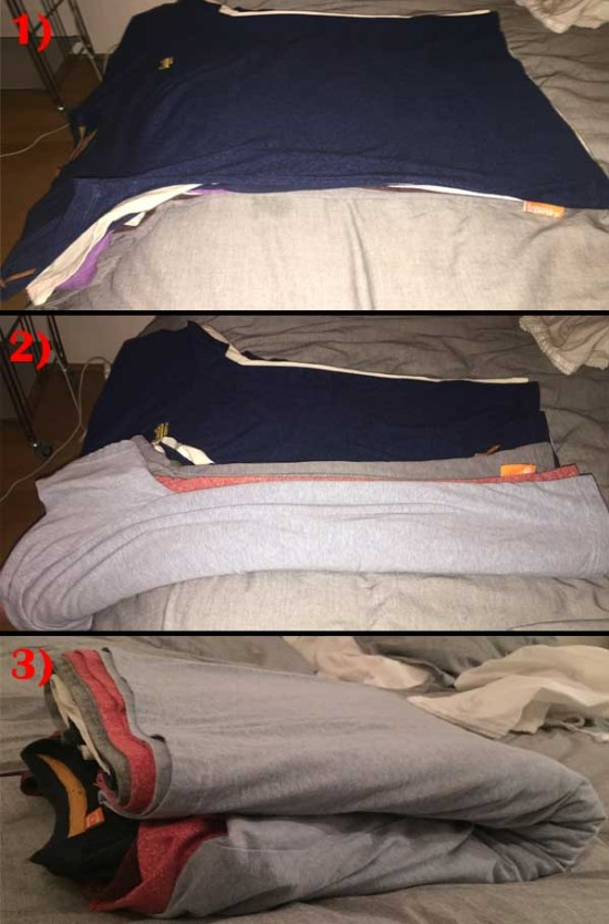 Folding T-shirts the smarter way